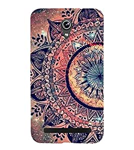 FUSON Floral Oriental Pattern Ornament 3D Hard Polycarbonate Designer Back Case Cover for Asus Zenfone Go ZC500TG (5 Inches)