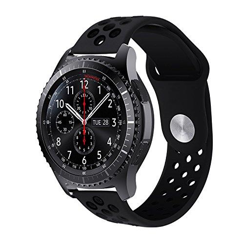 iBazal Gear S3 Armband, iBazal Gear S3 Frontier/ Classic Uhrenarmband 22mm Soft Silikon Band Sport Band Verstellbares Armband für Samsung Gear S3 Frontier/ Classic - Doppel - Für Notifier Uhrenarmband Martian