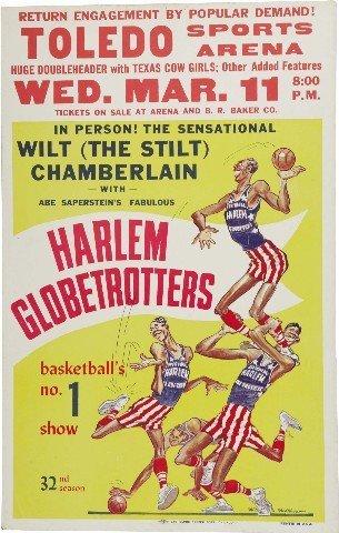 Harlem Globetrotters Foto-Nachdruck eines Promoposters 40x30cm (Foto Harlem)