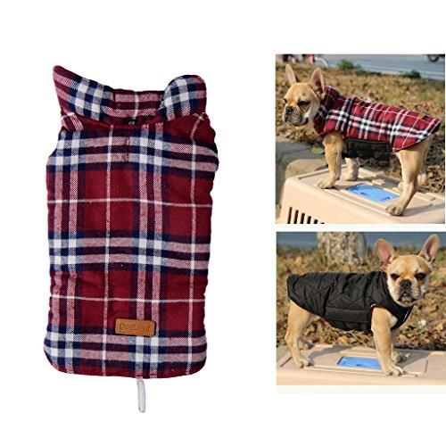 Fur Trade Canada (Hundejacke für den Winter, mit Schottenkaro, weich, warm, zum Wenden)
