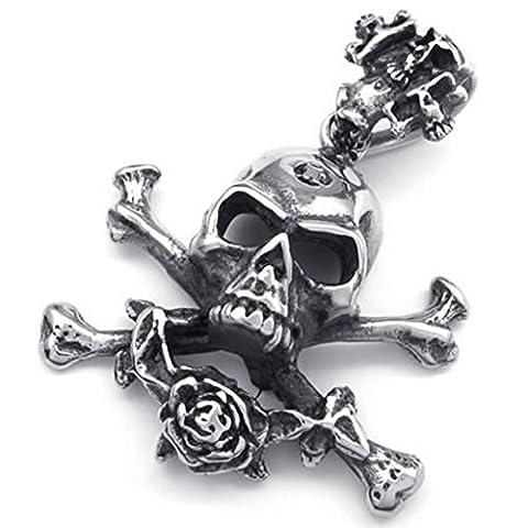 Beydodo Stainless Steel Necklace (Massive Chain) Irregular Shape 22 Inch For Men