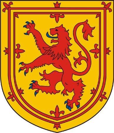 Michael & Rene Pflüger Barmstedt 8 x 7,5 cm - Wappen Kontur geschnitten - Autoaufkleber Schottland royal Löwe Sticker Aufkleber fürs Auto Motorrad handy laptop