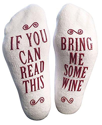 Socken Männer,DSUK If You Can Read This Wenn Sie Dieses Lesen Können Funny Happy Gestrickte Sneaker Socken Muster Baumwolle Gemütlich Wärme House Floor Ankle Socks Wein - Wein-maschine