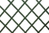 VERDELOOK Traliccio Estensibile in plastica, 100x100 cm, Verde, Decorazioni terrazza