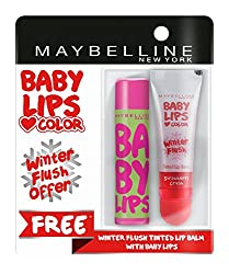 Maybelline New York Baby Lips, Winter Flush, 9 ml and Baby Lips, Watermelon Smooth, 4g