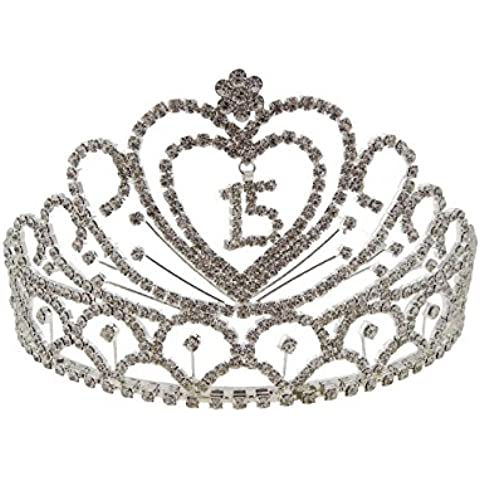 Rosemarie colecciones de la mujer crystal rhinestone quinceañera Tiara Corona