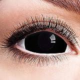 Farbige Kontaktlinsen Schwarz Motivlinsen Ohne Stärke Motiv Linsen Halloween Karneval Fasching Cosplay Anime Kostüm Mini Sclera 17mm Black Eyes Komplett Schwarze Augen Eye