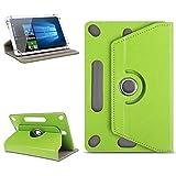 NAUC Universal Tablet Tasche Hülle für 10-10.1 Zoll Schutzhülle Tablettasche mit Standfunktion 360° drehbar hochwertige Verarbeitung viele Motive Universal Tablethülle Case, Farben:Grün