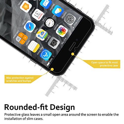 SENDIS [2 Pezzi] Pellicola Protettiva Per Lo Schermo Di Vetro Temperato Per Apple IPhone 7 / 6 - Pellicola Protettiva Trasparente Antigraffio Anti-Tottura Senza Bolle Ad Alta Definizione (trasparente) Trasparente