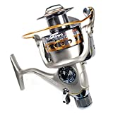 Yoshikawa Carp Fishing Reel Spinning Stainless Steel Reel Baitrunner Aluminum Spool Handle 11 Ball Bearings 3000-6000 5.5:1