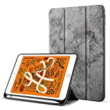 Robustrion Marble Series Trifold Flip Stand Case Cover with Pencil Holder iPad 9.7
