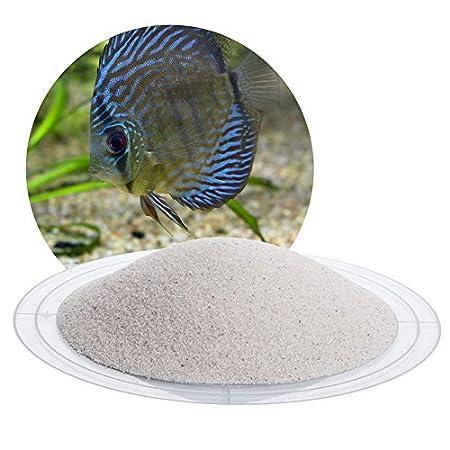 Schicker Mineral Aquariumsand Aquariumkies weiß im 25 kg Sack, kantengerundet, gewaschen, ungefärbt