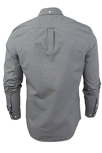 Herren langärmliges Gingham Hemd von Original Penguin Dark Sapphire