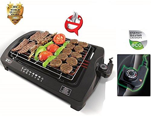 BBQgrill Tischgrill ELEKTRO GRILL Partygrill elektrischer Grill BBQ Elektrogrill 2000 W. Cool Touch Griffe Rauchfrei