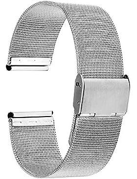 TRUMiRR 16mm Uhrenarmband -Mesh-Metallbügel -Edelstahl-Uhrenarmband für Moto 360 2 42mm Frauen 2015