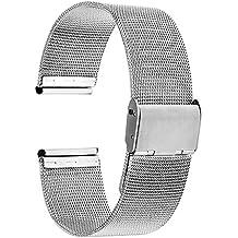 TRUMiRR banda de 18 mm Reloj de pulsera de malla de acero inoxidable de metal para Huawei reloj, Asus ZenWatch 2 WI502Q de la Mujer, Withings Activite / Acero / Pop, Fossil Q Tailor, LG Uhrenart, 36mm DW(Daniel Wellington)