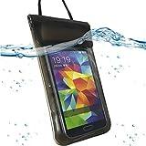 Wasserdicht Strand Tasche Beach Case Schutz Hülle für Samsung Galaxy K Zoom SM-C115 - Beachbag Schwarz