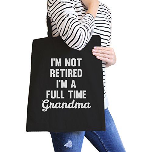 365 Printing inc , Borsa da spiaggia  Donna My Name Is Mom Not Retired Full Time Grandma