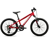 ORBEA MX 20 XC Zoll Kinder Fahrrad 7 Gang MTB Rad Aluminium Jugend Mountain Bike Federung, I009, Farbe rot