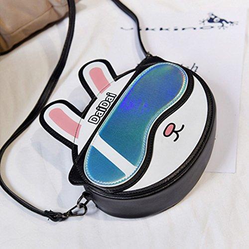 LAHAUTE Kaninchen Stil niedlichen Mini-Pack für Mädchen Schwarz