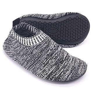 Dream Bridge Kinder Hausschuhe für Jungen Mädchen Kleinkinder Slipper Socken Anti-Rutsch Sohle mit Weiches Gummi Zimmer Draussen Schuhe Stoppersocken (Schwarz)