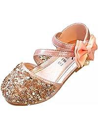 Amur Leopard Kids GirlsDiamand Glitter Princess Sandal Formal Party Shoes Soft Leather Mary Jane Shoes