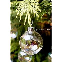 12 palline iridescenti per decorare l'albero di Natale, diametro 6 cm di Succulent Style