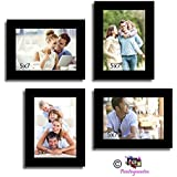 Art Street Wall Collage Photo Frame Timeline (Black, Set Of 4 Wall Photo Frames)