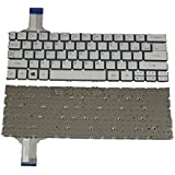 LotFancy Laptop Replacement keyboard for Acer Aspire P3 131 P3 171 P3 171 6408 P3 171 6820 Fit part numbers: MP 12Q33U46200 9Z.NAZPQ.601 NSK RP6PQ 01 /US layout / Silver / Without frame