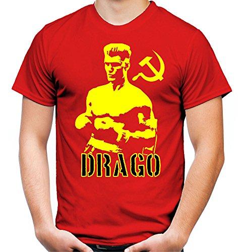 Ivan Drago Männer und Herren T-Shirt | Sport Boxing GYM Geschenk | M2 (M, Rot)