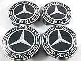 IGGY 4X Nabenkappen Logo Mercedes Benz 75 mm für Felgen Lega - Klasse A B C E CLA