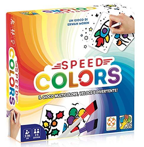 DV Giochi- Speed Colors-Il Giodo di Carte Multicolore in Italiano, DVG9345