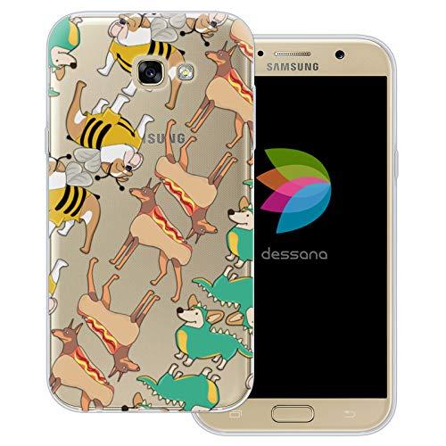 dessana Süße Tiere transparente Schutzhülle Handy Case Cover Tasche für Samsung Galaxy A7 (2017) Hunde im ()