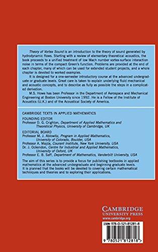 Theory of Vortex Sound (Cambridge Texts in Applied Mathematics)