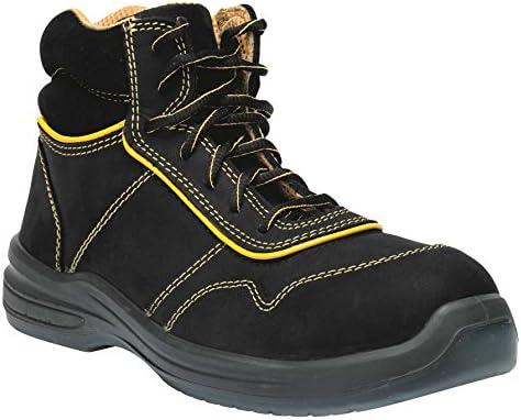 GSA 1034325012 par de zapatillas altas Zenon S3 SRC, negro/amarillo, 46