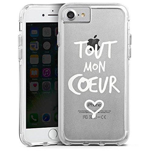Apple iPhone X Bumper Hülle Bumper Case Glitzer Hülle Tout Mon Coeur Liebe Herz Bumper Case transparent