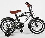 12 Zoll Fahrrad Qualitäts Kinderfahrrad matt schwarz bike Black Cruiser - 6