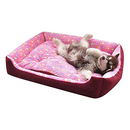 Wasserfestes Pflegeleichtes Hundebett Hundehütte Größen Erhältlich für Extra Große Hunde Rosa