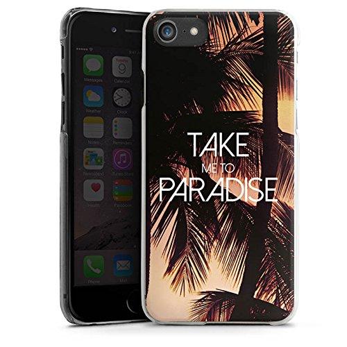 Apple iPhone X Silikon Hülle Case Schutzhülle Palmen Urlaub Sommer Hard Case transparent