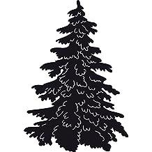 Marianne Design Marcr1224 - Troqueles con diseño árbol de navidad, 10.3 x 13 x 0.3 cm, color gris