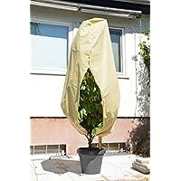 Green Home Mega Planta para Invierno (de Campana con Cremallera y cordón–Beige–110x 120cm, 45g/m² Polipropileno fitosanitarios