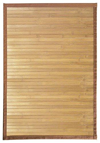 InterDesign Formbu Fußmatte rutschfest, kleiner Läufer aus Bambus, hellbraun