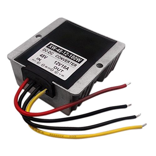 Blackr DC 48 V auf 12 V Buck Power Converter, 15 A 180 W DC Step Down Power Supply Voltage Changer Adapter Regulator (Konverter 48 V Dc-dc Buck)