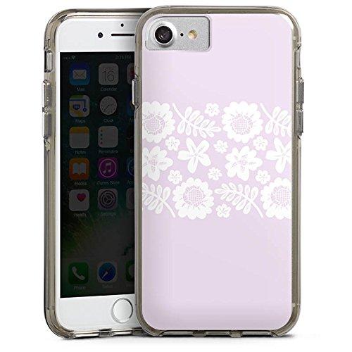 Apple iPhone 6s Bumper Hülle Bumper Case Glitzer Hülle Rosa Spitzenborte Oktoberfest Muster Bumper Case transparent grau