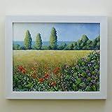 A Country Scene 25cmx20cm Pintura Original Enmarcada