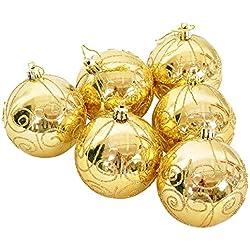 Albero Di Natale Appeso Decorazione Oro Scintillio Palla Di Natale Palline Di Natale Decorazione