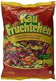 Kau Früchtchen – Leckere Kau Bonbons mit fruchtigengeschmacksrichtungen für Klein undgroß – (5 x 1 kg Beutel)