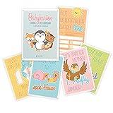 Navaris Baby Karten Meilenstein Cards - erstes Jahr nach Geburt - Erinnerungen an die ersten Monate - 36er Set für Jungen und Mädchen auf Deutsch