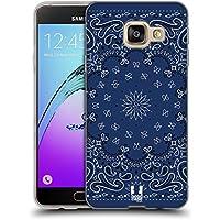 Head Case Designs Classique Bleu Bandana Cachemire Classique Étui Coque en Gel molle pour Samsung Galaxy A3 (2016)