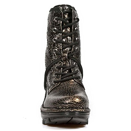 s32 Leder Copper Stiefel Neo M Schwarz New Damen Trail neotr008 Rock 61zqBB